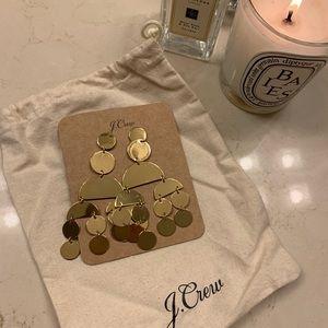 J Crew gold metal earrings